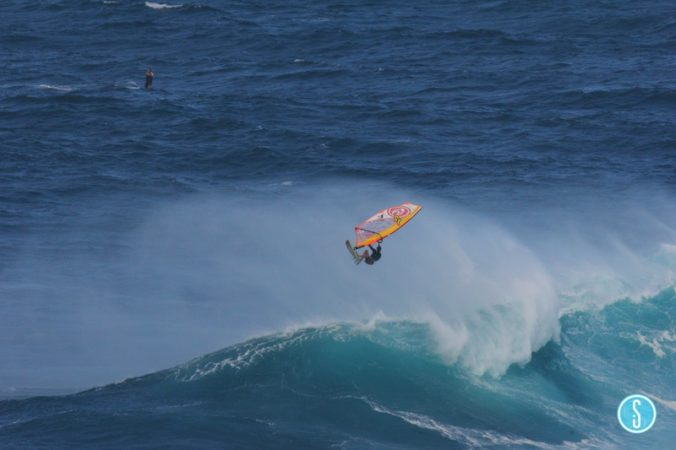 Aerialing off Jaws